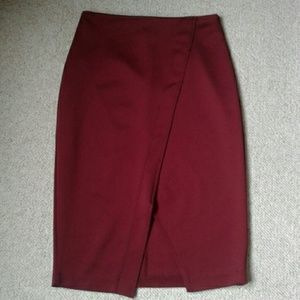 NY&CO Stretch Front Vent Pencil Skirt